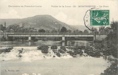 """CPA FRANCE 25 """"Montgesoye, Le pont""""."""