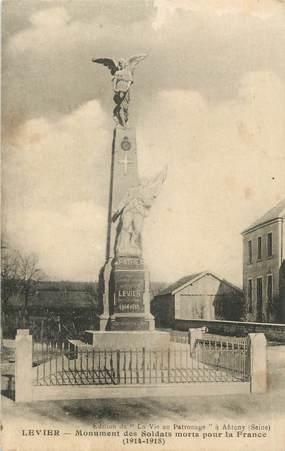"""CPA FRANCE 25 """"Levier, Le monument aux morts""""."""