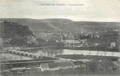 """CPA FRANCE 25 """"Baume les Dames, Vue Générale""""."""