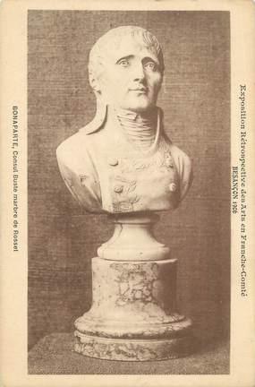 """CPA FRANCE 25 """"Besançon, Bonaparte, Consul buste marbre de Rosset""""."""