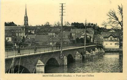 """CPA FRANCE 25 """" Montbéliard, Pont sur l'Allan""""."""