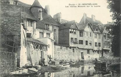 """CPA FRANCE 25 """" Montbéliard, Les vieilles maisons sur la Luzine""""."""