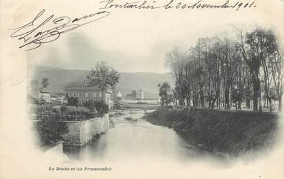 """CPA FRANCE 25 """" Portalier, Le Doubs et les promenades""""."""