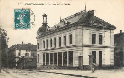 """CPA FRANCE 25 """" Portalier, La nouvelle Poste""""."""
