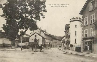 """CPA FRANCE 25 """" Portalier, Rue des Lavaux""""."""