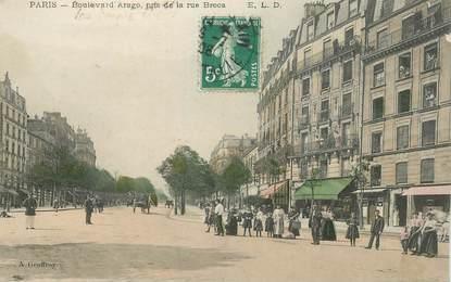 "CPA FRANCE 75014 ""Paris, Bld Arago, prise de la rue Broca"""