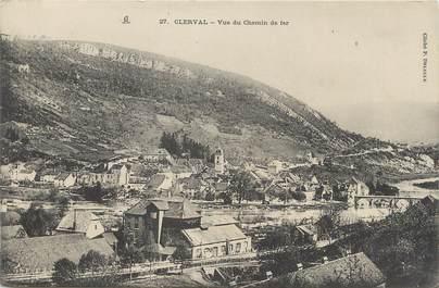 """CPA FRANCE 25 """" Clerval, Vue du chemin de fer""""."""