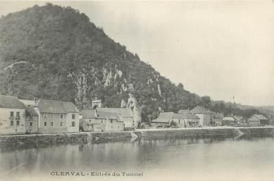 """CPA FRANCE 25 """" Clerval, Entrée du tunnel""""."""