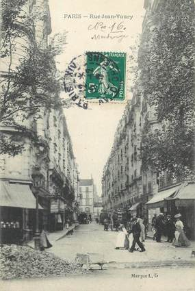 """CPA FRANCE 75014 """"Paris, Rue Jean Vaury"""""""