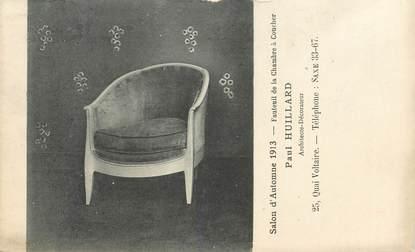 """CPA FRANCE 75007 """"Paris, Fauteuil de chambre à coucher, salon d'Automne 1913"""""""