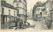 """75 Pari CPA FRANCE 75005 """"Paris, 1910, Inondations, La rue du Haut Pavé"""""""