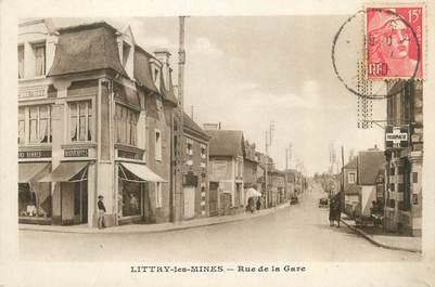 "CPA FRANCE 14 "" Littry Les Mines, Rue de la gare""."