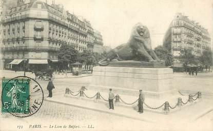 """CPA FRANCE 75008 """"Paris, le Lion de Belfort"""""""