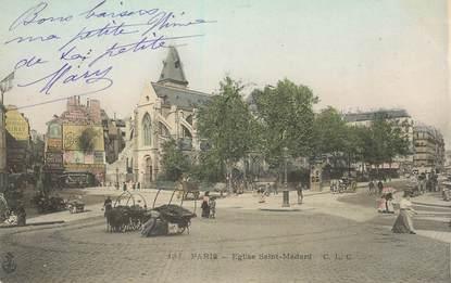 "CPA FRANCE 75005 ""Paris, Eglise Saint Médard"""
