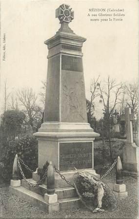 """CPA FRANCE 14 """" Mézidon, Le monument aux morts""""."""