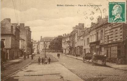 """CPA FRANCE 14 """"Orbec, Place de la Poissonnerie"""""""