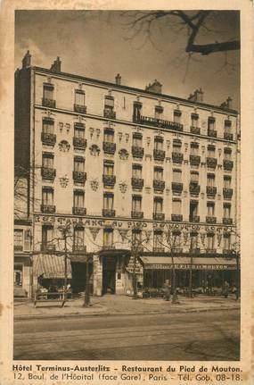 """CPA FRANCE 75013 """"Paris, Hotel Terminus Austerlitz, Restaurant du Pied de Mouton"""""""