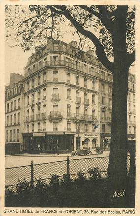 """CPA FRANCE 75005 """"Grand Hotel de France et d'Orient, Rue des Ecoles"""""""