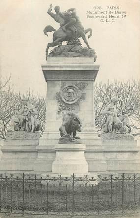 "CPA FRANCE 75004 ""Paris, monument de Barye, Bld Henri IV"""