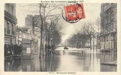"CPA FRANCE 75012 ""Paris, Bld Diderot, les inondations de 1910"""
