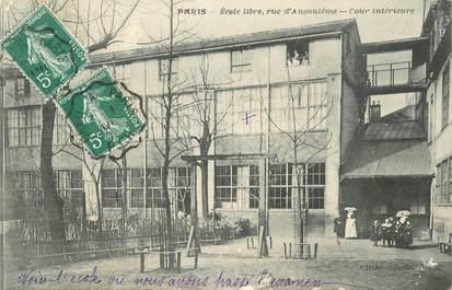 """CPA FRANCE 75006 """"Paris, Rcole libre, rue d'Angoulême"""""""