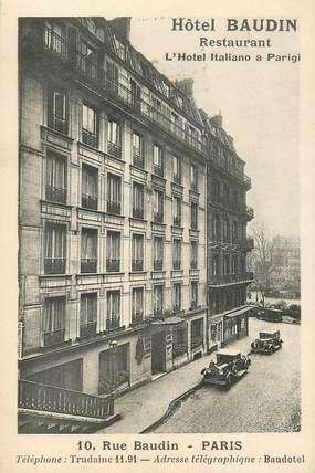 """CPA FRANCE 75011 """"Paris, Rue Baudin, Hotel Baudin"""""""