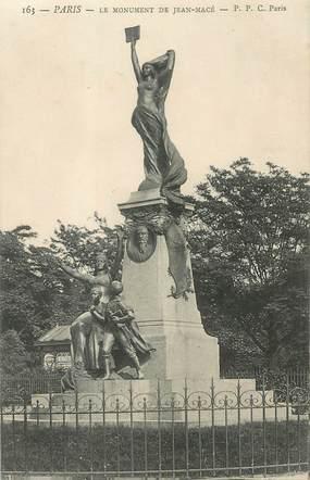 """CPA FRANCE 75019 """"Paris, Le monument de Jean Macé"""""""