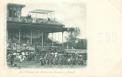 """CPA FRANCE 75016 """"Les Tribunes du Champ de Courses à Auteuil"""""""