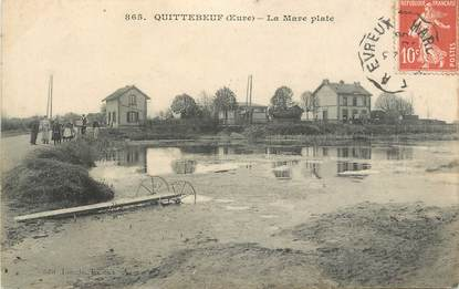 """CPA FRANCE 27 """"Quittebeuf, La mare plate""""."""