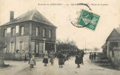 """CPA FRANCE 27 """"Quatremare, Route de Louviers""""."""