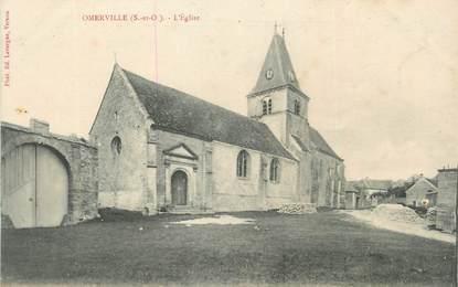 """CPA FRANCE 27 """"Omerville, L'église""""."""