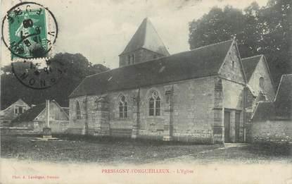 """CPA FRANCE 27 """"Pressagny L'Orgueilleux, L'église""""."""