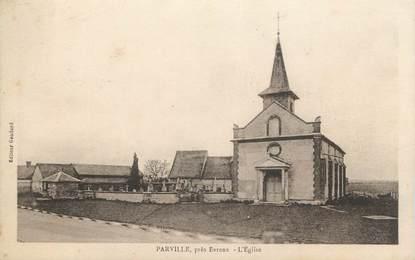 """CPA FRANCE 27 """"Parville, L'église""""."""