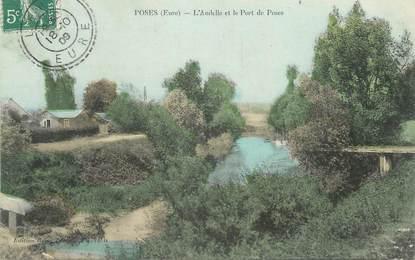 """CPA FRANCE 27 """"Poses, L'Ancelle et le Port des Poses""""."""