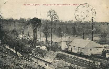 """CPA FRANCE 27 """"Les Préaux, Vue générale des établissements H. Chapman et Fils""""."""