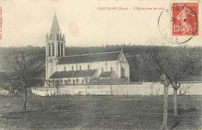 """CPA FRANCE 27 """"Port Mort, L'église """"."""