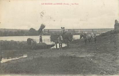 """CPA FRANCE 27 """"Le Manoir sur Seine, Le pont""""."""