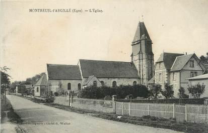 """CPA FRANCE 27 """"Montreuil-L'Argillé, L'église""""."""