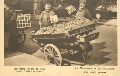 """CPA FRANCE 75 """"Paris, la marchande de Quatre saisons"""""""