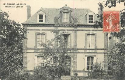 """CPA FRANCE 27 """"Le Marais Vernier, Propriété Cardon""""."""