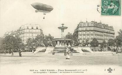 "CPA FRANCE 75012 ""Paris, Place Daumesnil"" / DIRIGEABLE"