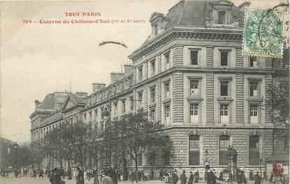 """CPA FRANCE 75003 """"Paris, Caserne du Chateau d'Eau"""""""