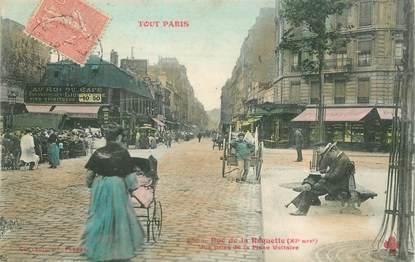 """CPA FRANCE 75011 """"Paris, Rue de la Roquette, vue prise de la Place Voltaire"""""""
