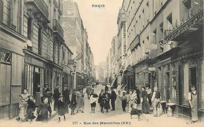 "CPA FRANCE 75020 ""Paris, rue des Maronites"""