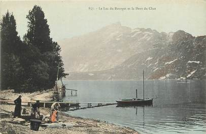 "CPA FRANCE 73 ""Lac du Bourget et la Dent du Chat"""