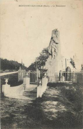 """CPA FRANCE 27 """"Montfort sur Risle, Le monument""""."""