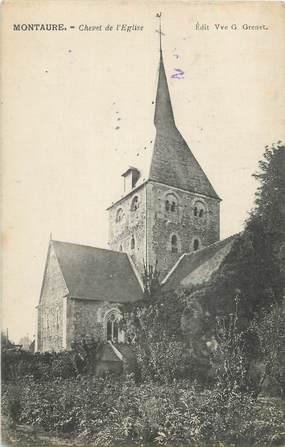 """CPA FRANCE 27 """"Montaure, Chevet de l'église""""."""