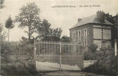 """CPA FRANCE 27 """"Lettegguives, Un coin du village""""."""