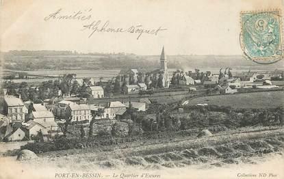 """CPA FRANCE 14 """"Port en Bessin, le quartier d'Escures"""""""