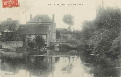 """CPA FRANCE 27 """"Lyre, Pont sur la Risle""""."""